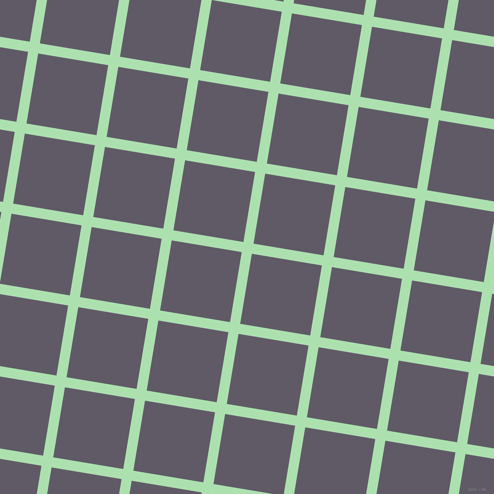 81/171 degree angle diagonal checkered chequered lines, 20 pixel lines width, 139 pixel square size, Celadon and Mobster plaid checkered seamless tileable