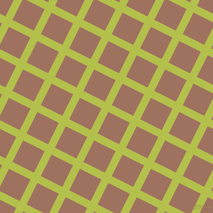 63/153 degree angle diagonal checkered chequered lines, 15 pixel line width, 47 pixel square size, Celery and Toast plaid checkered seamless tileable
