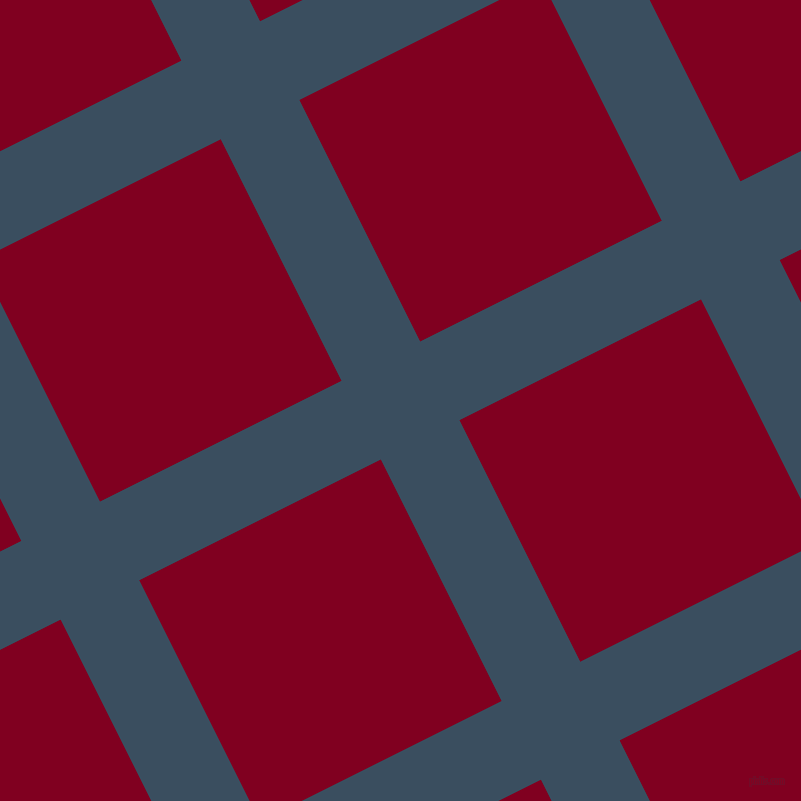 27/117 degree angle diagonal checkered chequered lines, 88 pixel line width, 270 pixel square size, Cello and Burgundy plaid checkered seamless tileable