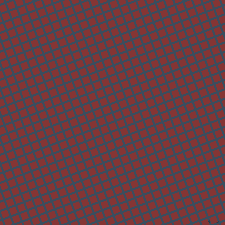 21/111 degree angle diagonal checkered chequered lines, 7 pixel lines width, 23 pixel square size, Cello and Tall Poppy plaid checkered seamless tileable