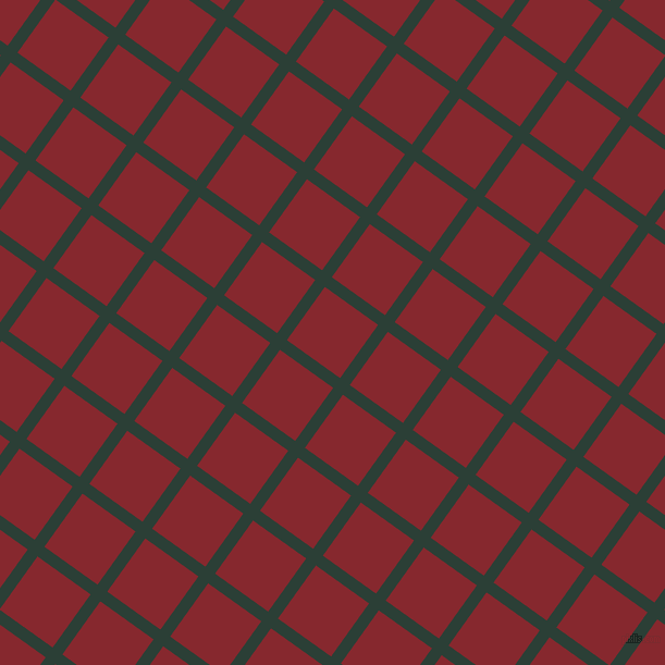 54/144 degree angle diagonal checkered chequered lines, 11 pixel lines width, 60 pixel square size, Celtic and Flame Red plaid checkered seamless tileable