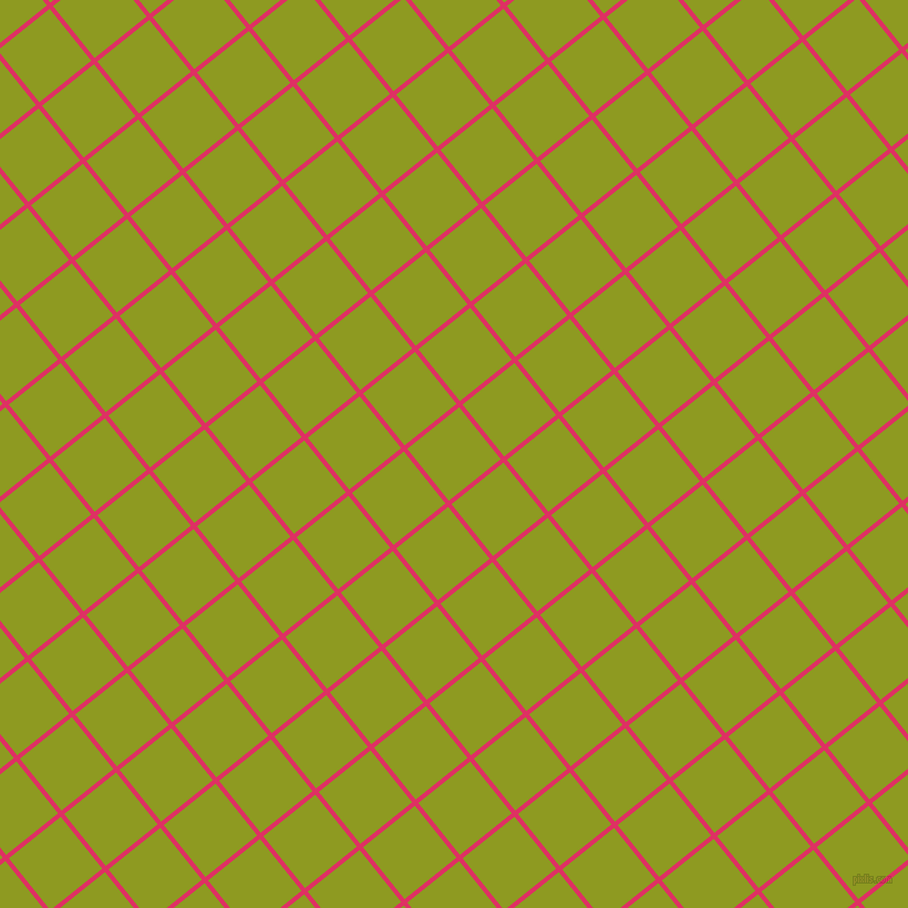 39/129 degree angle diagonal checkered chequered lines, 4 pixel line width, 60 pixel square size, Cerise and Citron plaid checkered seamless tileable