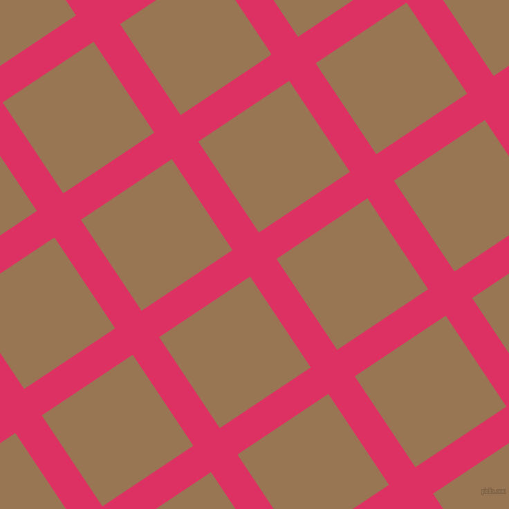 34/124 degree angle diagonal checkered chequered lines, 46 pixel lines width, 158 pixel square size, Cerise and Pale Brown plaid checkered seamless tileable
