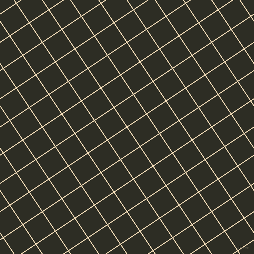 34/124 degree angle diagonal checkered chequered lines, 3 pixel lines width, 74 pixel square size, Champagne and Karaka plaid checkered seamless tileable