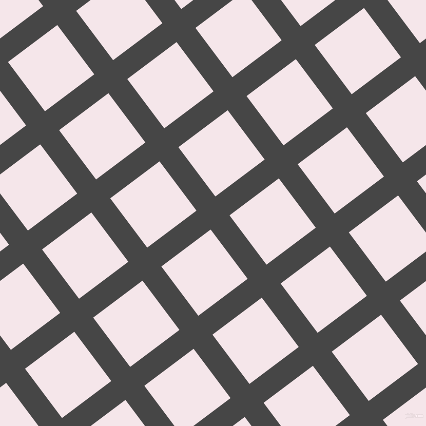 37/127 degree angle diagonal checkered chequered lines, 46 pixel line width, 120 pixel square size, Charcoal and Amour plaid checkered seamless tileable