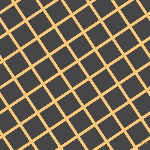 34/124 degree angle diagonal checkered chequered lines, 10 pixel line width, 62 pixel square size, Chardonnay and Charcoal plaid checkered seamless tileable