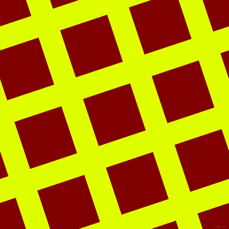 18/108 degree angle diagonal checkered chequered lines, 75 pixel lines width, 163 pixel square size, Chartreuse Yellow and Maroon plaid checkered seamless tileable