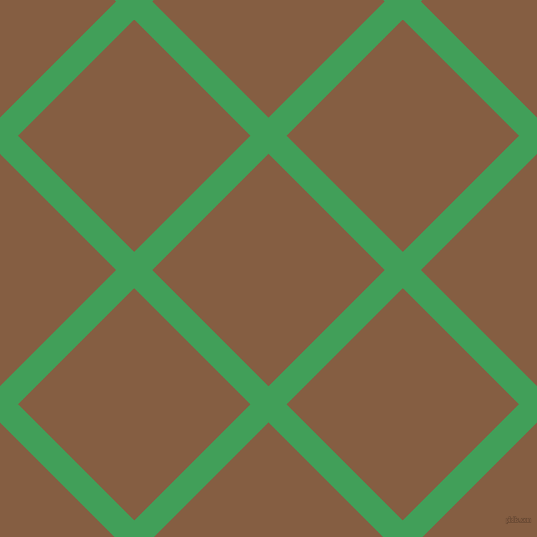 45/135 degree angle diagonal checkered chequered lines, 36 pixel line width, 231 pixel square size, Chateau Green and Dark Wood plaid checkered seamless tileable