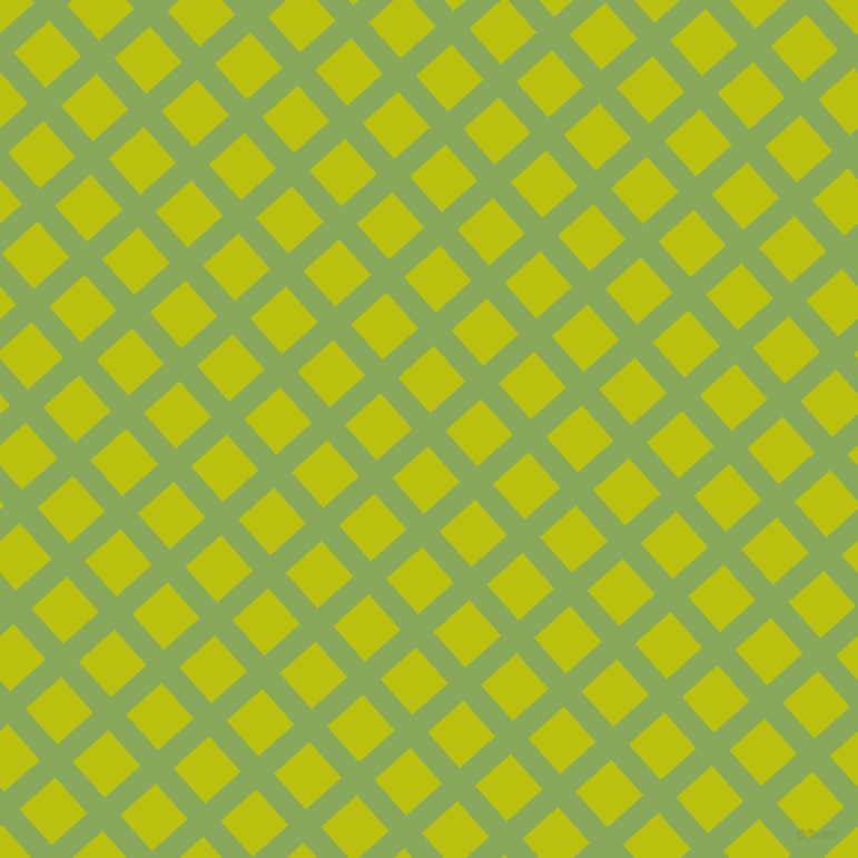 42/132 degree angle diagonal checkered chequered lines, 21 pixel line width, 43 pixel square size, Chelsea Cucumber and La Rioja plaid checkered seamless tileable