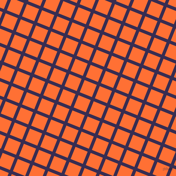 68/158 degree angle diagonal checkered chequered lines, 11 pixel lines width, 45 pixel square size, Cherry Pie and Burnt Orange plaid checkered seamless tileable