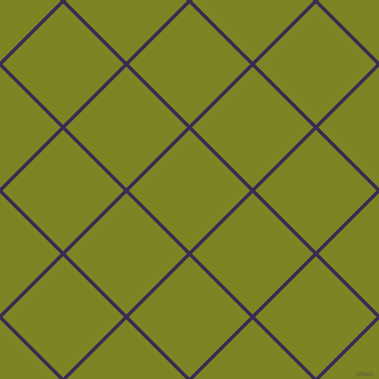 45/135 degree angle diagonal checkered chequered lines, 7 pixel lines width, 171 pixel square size, Cherry Pie and Trendy Green plaid checkered seamless tileable