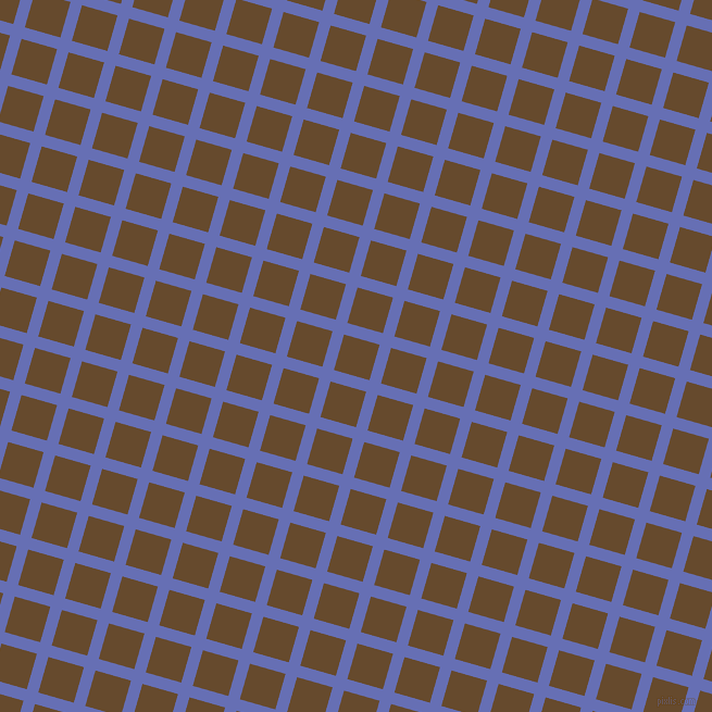74/164 degree angle diagonal checkered chequered lines, 11 pixel lines width, 34 pixel square size, Chetwode Blue and Dallas plaid checkered seamless tileable