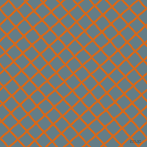 42/132 degree angle diagonal checkered chequered lines, 7 pixel lines width, 34 pixel square size, Chocolate and Hoki plaid checkered seamless tileable