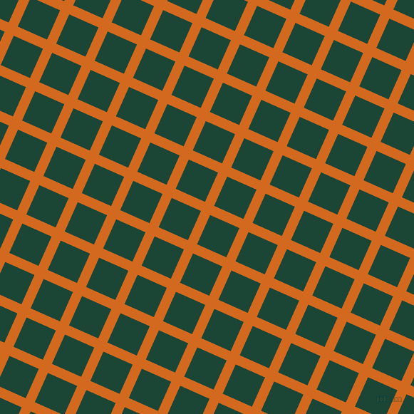 66/156 degree angle diagonal checkered chequered lines, 14 pixel line width, 45 pixel square size, Chocolate and Sherwood Green plaid checkered seamless tileable