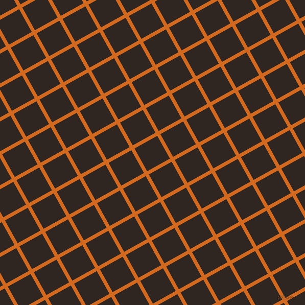 29/119 degree angle diagonal checkered chequered lines, 7 pixel lines width, 51 pixel square size, Chocolate and Wood Bark plaid checkered seamless tileable