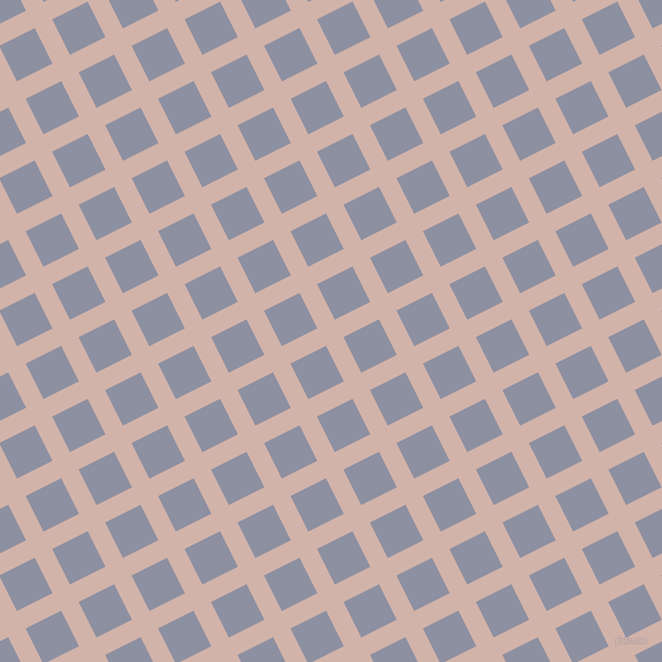 27/117 degree angle diagonal checkered chequered lines, 22 pixel line width, 45 pixel square size, Clam Shell and Manatee plaid checkered seamless tileable