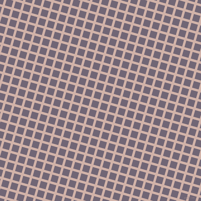 74/164 degree angle diagonal checkered chequered lines, 8 pixel line width, 23 pixel square size, Clam Shell and Rum plaid checkered seamless tileable