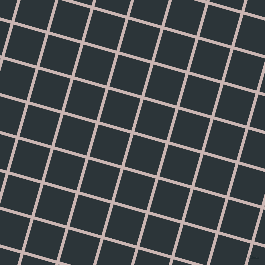 74/164 degree angle diagonal checkered chequered lines, 11 pixel lines width, 116 pixel square size, Cold Turkey and Gunmetal plaid checkered seamless tileable