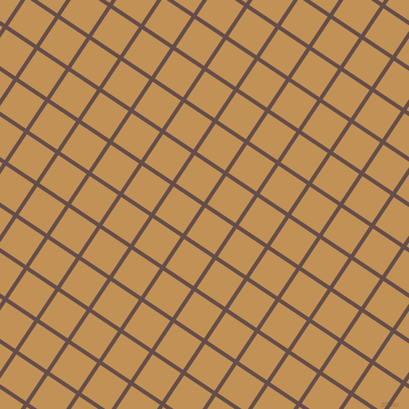 56/146 degree angle diagonal checkered chequered lines, 8 pixel lines width, 69 pixel square size, Congo Brown and Twine plaid checkered seamless tileable