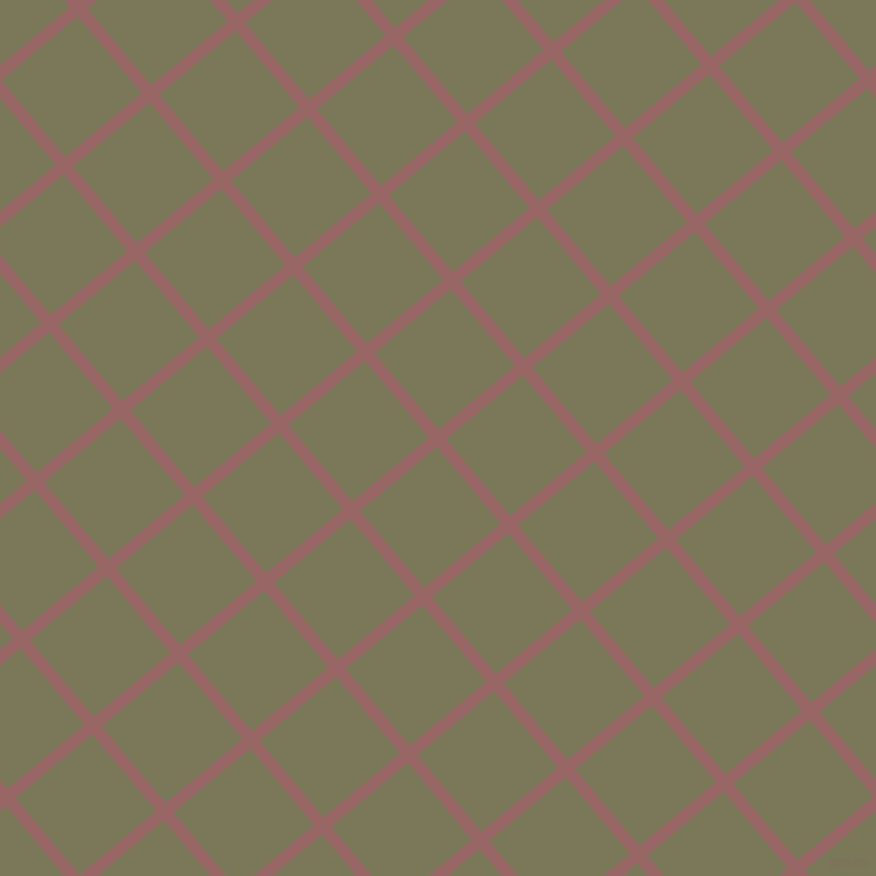 40/130 degree angle diagonal checkered chequered lines, 11 pixel lines width, 91 pixel square size, Copper Rose and Kokoda plaid checkered seamless tileable