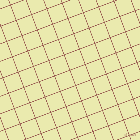 21/111 degree angle diagonal checkered chequered lines, 2 pixel lines width, 51 pixel square size, Copper Rust and Medium Goldenrod plaid checkered seamless tileable