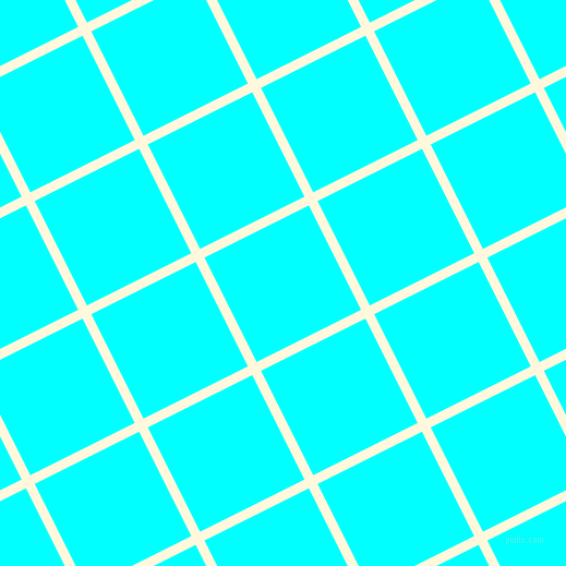 27/117 degree angle diagonal checkered chequered lines, 9 pixel line width, 107 pixel square size, Corn Silk and Aqua plaid checkered seamless tileable