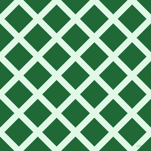 45/135 degree angle diagonal checkered chequered lines, 24 pixel line width, 78 pixel square size, Cosmic Latte and Camarone plaid checkered seamless tileable