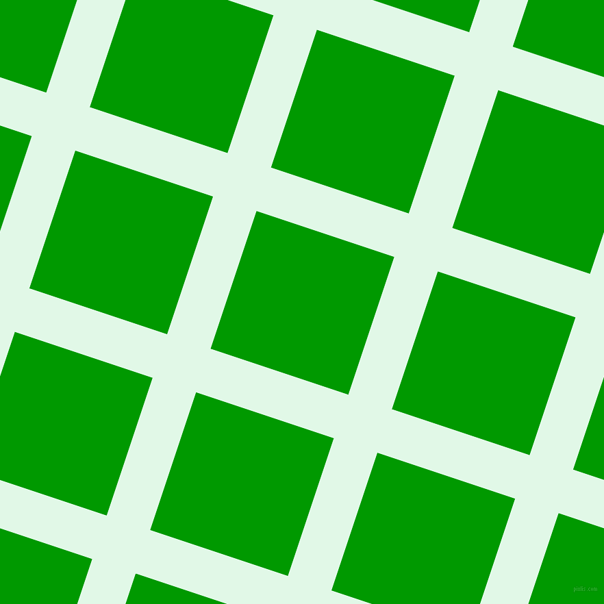 72/162 degree angle diagonal checkered chequered lines, 67 pixel lines width, 212 pixel square size, Cosmic Latte and Islamic Green plaid checkered seamless tileable