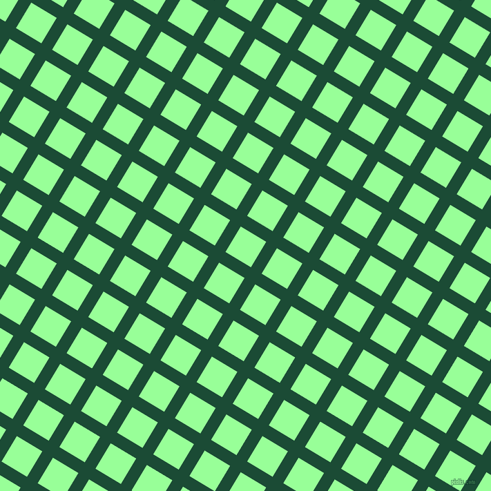 59/149 degree angle diagonal checkered chequered lines, 18 pixel line width, 43 pixel square size, County Green and Mint Green plaid checkered seamless tileable