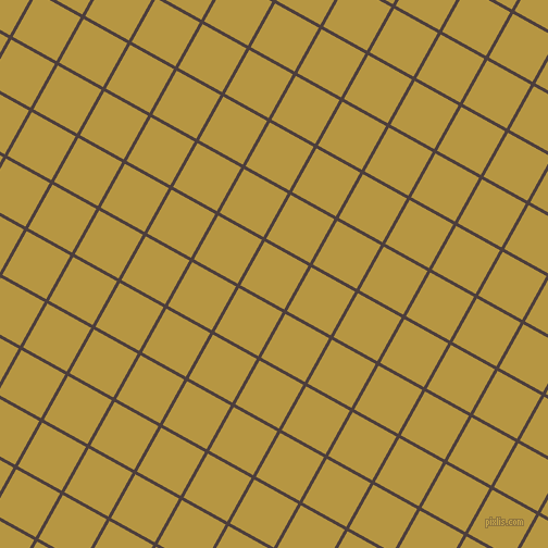 61/151 degree angle diagonal checkered chequered lines, 3 pixel lines width, 46 pixel square size, Crater Brown and Roti plaid checkered seamless tileable
