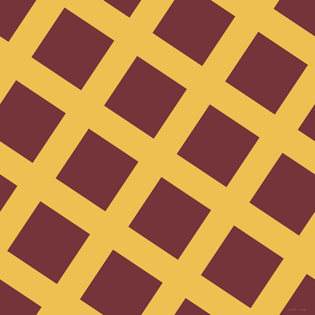 56/146 degree angle diagonal checkered chequered lines, 54 pixel line width, 117 pixel square size, Cream Can and Merlot plaid checkered seamless tileable