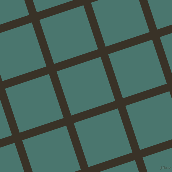 18/108 degree angle diagonal checkered chequered lines, 27 pixel lines width, 157 pixel square size, Creole and Dark Green Copper plaid checkered seamless tileable