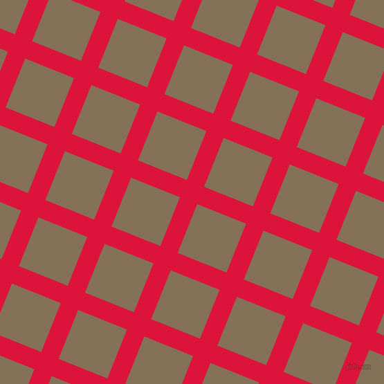 68/158 degree angle diagonal checkered chequered lines, 27 pixel line width, 76 pixel square size, Crimson and Cement plaid checkered seamless tileable