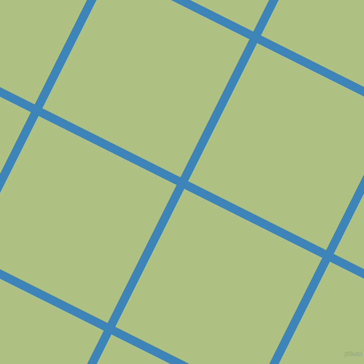 63/153 degree angle diagonal checkered chequered lines, 17 pixel lines width, 307 pixel square size, Curious Blue and Caper plaid checkered seamless tileable
