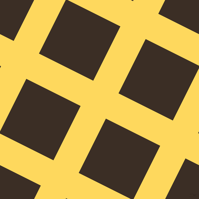 63/153 degree angle diagonal checkered chequered lines, 114 pixel line width, 245 pixel square size, Dandelion and Sambuca plaid checkered seamless tileable