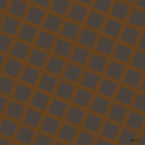 67/157 degree angle diagonal checkered chequered lines, 16 pixel line width, 49 pixel square size, Dark Brown and Space Shuttle plaid checkered seamless tileable
