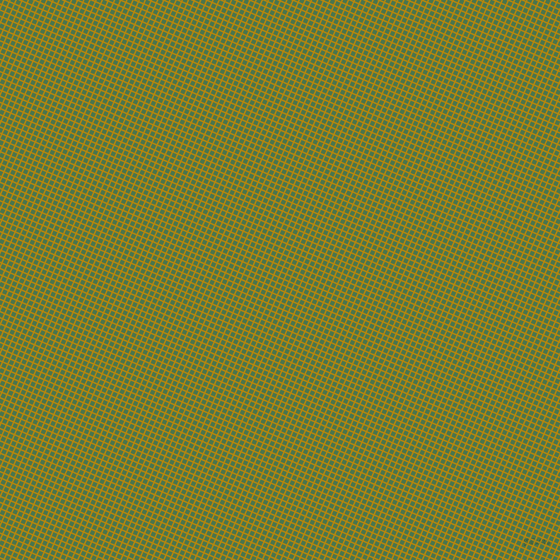 67/157 degree angle diagonal checkered chequered lines, 2 pixel line width, 6 pixel square size, Dark Goldenrod and Killarney plaid checkered seamless tileable