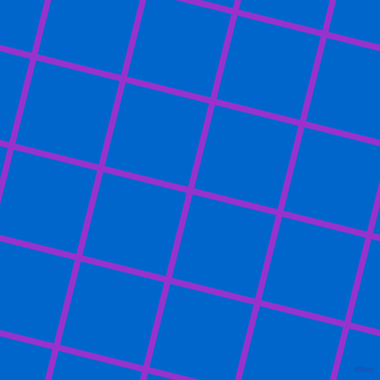 76/166 degree angle diagonal checkered chequered lines, 12 pixel lines width, 168 pixel square size, Dark Orchid and Navy Blue plaid checkered seamless tileable