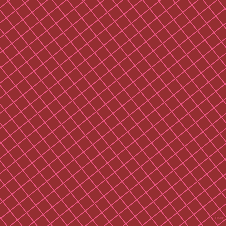 39/129 degree angle diagonal checkered chequered lines, 3 pixel line width, 36 pixel square size, Dark Pink and Guardsman Red plaid checkered seamless tileable