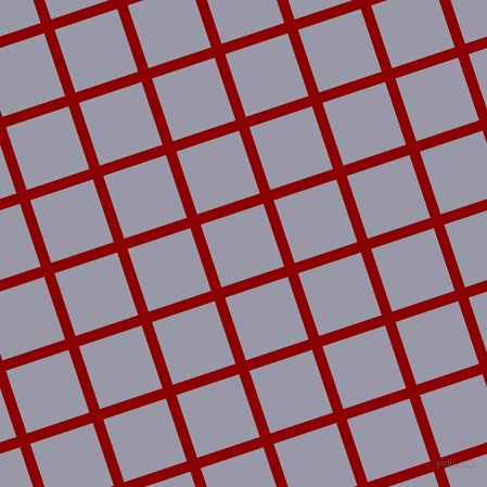 18/108 degree angle diagonal checkered chequered lines, 10 pixel line width, 61 pixel square size, Dark Red and Santas Grey plaid checkered seamless tileable