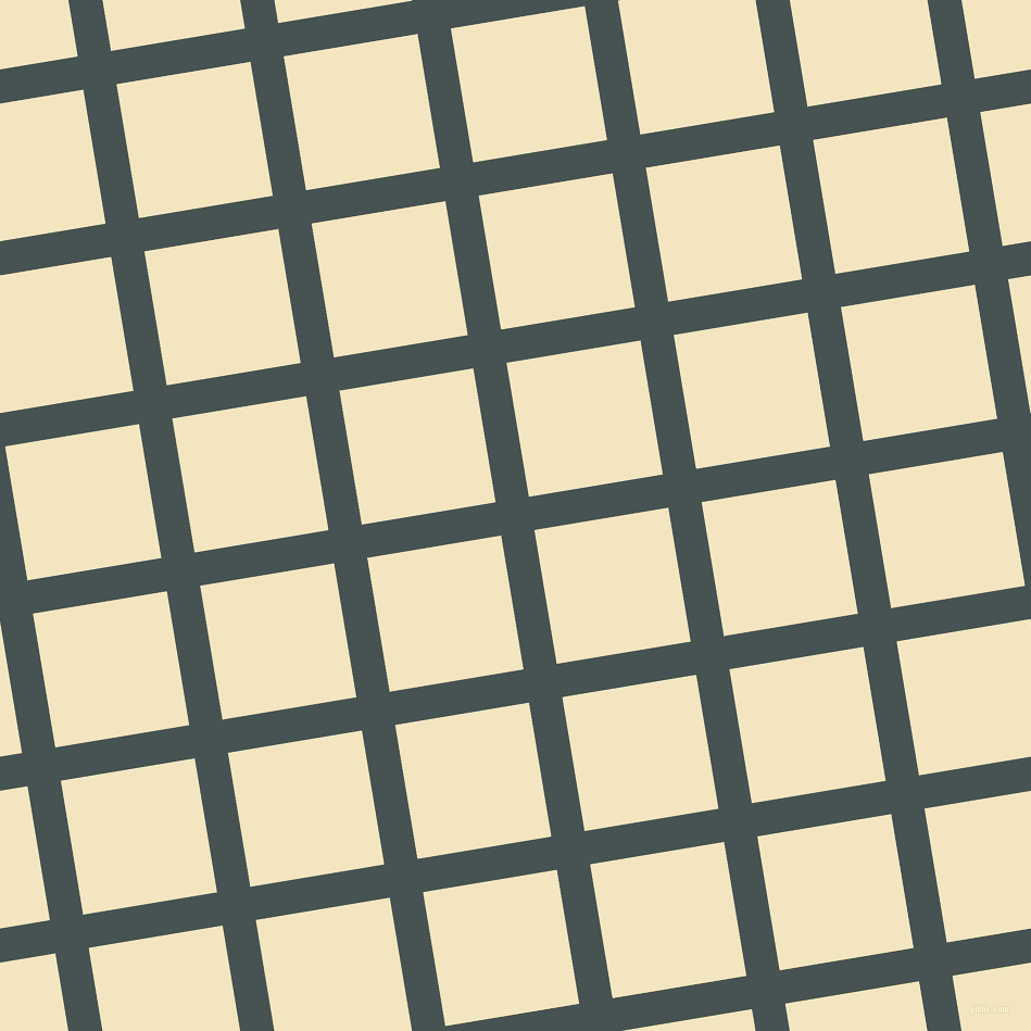 9/99 degree angle diagonal checkered chequered lines, 31 pixel lines width, 125 pixel square size, Dark Slate and Half Colonial White plaid checkered seamless tileable