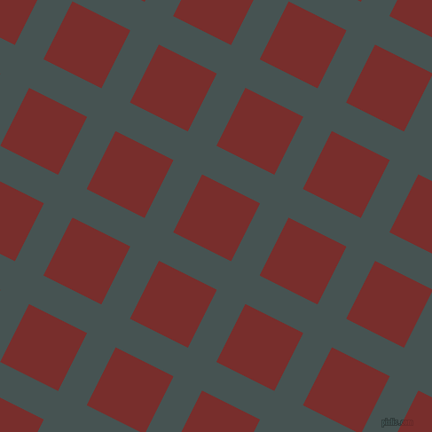 63/153 degree angle diagonal checkered chequered lines, 36 pixel line width, 73 pixel square size, Dark Slate and Lusty plaid checkered seamless tileable