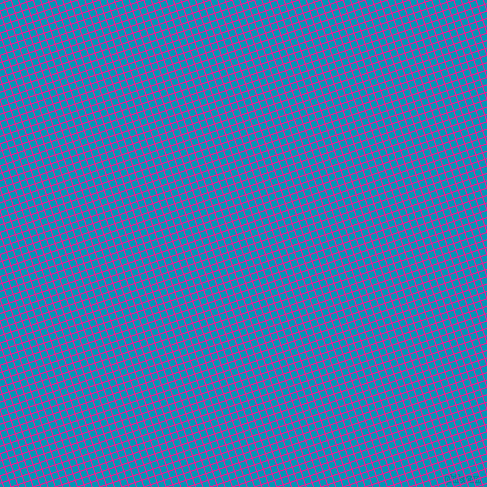 18/108 degree angle diagonal checkered chequered lines, 1 pixel line width, 6 pixel square size, Deep Pink and Bondi Blue plaid checkered seamless tileable