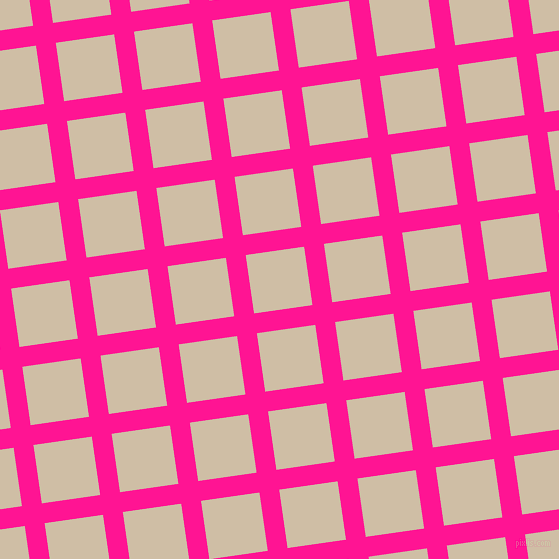 8/98 degree angle diagonal checkered chequered lines, 20 pixel lines width, 59 pixel square size, Deep Pink and Soft Amber plaid checkered seamless tileable