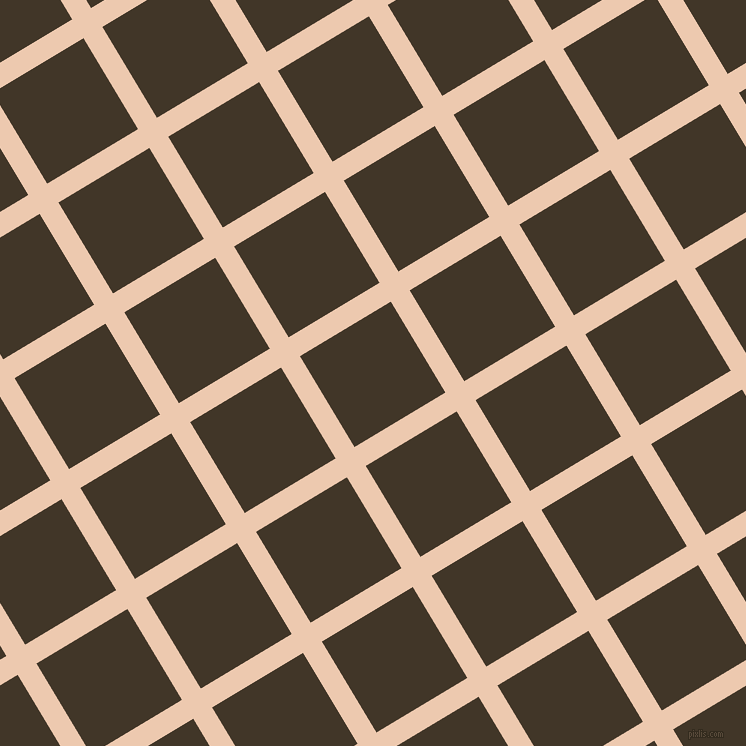 31/121 degree angle diagonal checkered chequered lines, 22 pixel line width, 106 pixel square size, Desert Sand and Jacko Bean plaid checkered seamless tileable