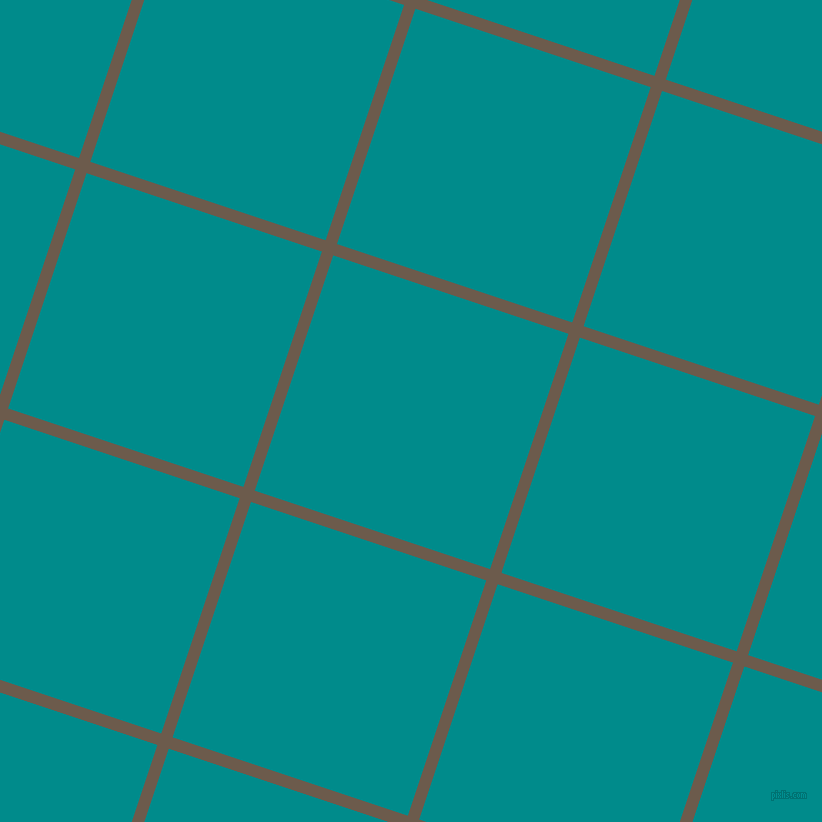 72/162 degree angle diagonal checkered chequered lines, 12 pixel lines width, 248 pixel square size, Domino and Dark Cyan plaid checkered seamless tileable