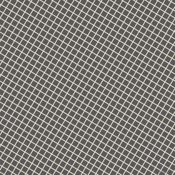 59/149 degree angle diagonal checkered chequered lines, 3 pixel line width, 17 pixel square size, Double Pearl Lusta and Bright Grey plaid checkered seamless tileable