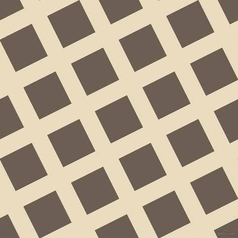 27/117 degree angle diagonal checkered chequered lines, 35 pixel line width, 73 pixel square size, Double Pearl Lusta and Kabul plaid checkered seamless tileable