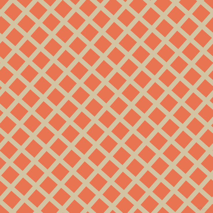 48/138 degree angle diagonal checkered chequered lines, 16 pixel line width, 45 pixel square sizeDouble Spanish White and Burnt Sienna plaid checkered seamless tileable