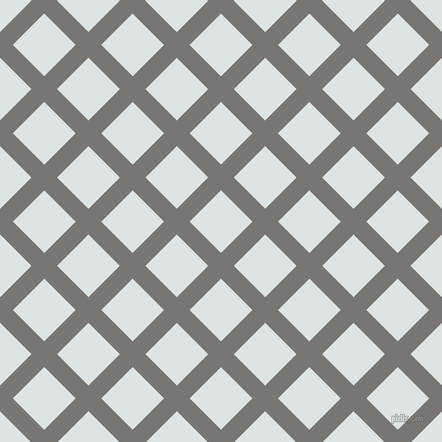 45/135 degree angle diagonal checkered chequered lines, 20 pixel lines width, 49 pixel square size, Dove Grey and Zircon plaid checkered seamless tileable